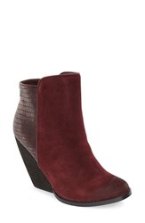 Very Volatile Women's 'Consta' Wedge Bootie Wine Suede