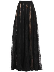 Zuhair Murad Crepe And Lace Skirt