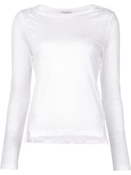 Frame Denim Longsleeved T Shirt White