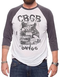 Jack Of All Trades Premium Cbgb And Omfug Destroyed Guitar Tee White