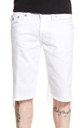 Men's True Religion Brand Jeans 'Ricky' Cutoff Denim Shorts Optic White