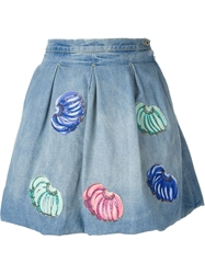 28.5 Banana Patch Denim Bubble Skirt Blue