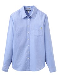Joules Lucie Semi Fitted Chambray Shirt Soft Blue