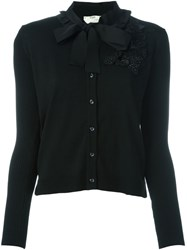 Fendi Embellished Cardigan Black