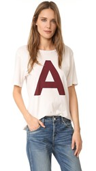 Amo Scarlet Letter Tomboy Tee Dirty White With Destroy