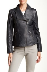Soia And Kyo Asymmetrical Zip Leather Jacket Green