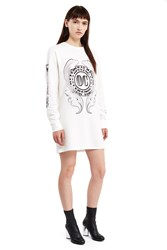Opening Ceremony Bill Long Sleeve T Shirt Dress White