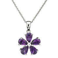 Ewa Flower Pendant Purple