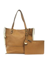 Jessica Simpson Hanne Faux Leather Tote Cognac Putty