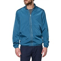 Ymc Light Blue Perforated Double Zip Jacket
