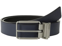 Calvin Klein 32Mm Reversible Flat Strap Saffiano Leather To Smooth Navy Black Men's Belts Blue