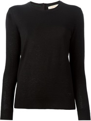 Tory Burch Crew Neck Sweater Black