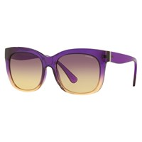 Coach Hc8173 Square Sunglasses Purple Yellow