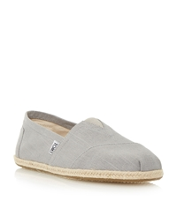 Toms Seasonal Slip On Casual Espadrilles Grey