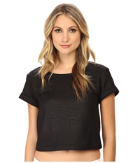 Versace Cropped Textured T Shirt