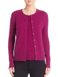 Saks Fifth Avenue Cashmere Button Front Cardigan Fuchsia Bright Blue Black Oatmeal