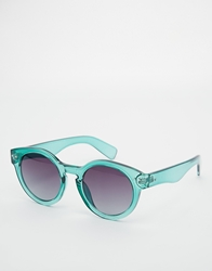Jeepers Peepers Round Crystal Sunglasses Crystalgreen