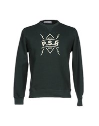 Phonz Says Black Topwear Sweatshirts Men Dark Green