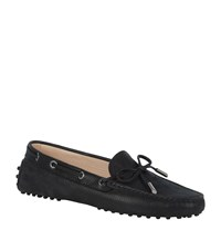 Tod's Gommino Heaven Laced Driving Shoe Female Black