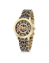 Just Cavalli Just Havana Animal Print Stainless Steel Women's Watch Gold