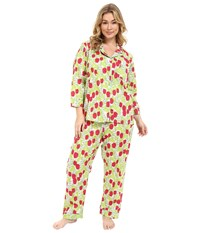 Bedhead Classic Voile Pj's Plus Size Rouge Holland Tulip Women's Pajama Sets Yellow