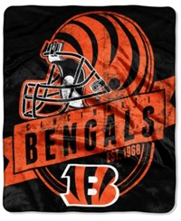 Northwest Company Cincinnati Bengals Micro Raschel 12Th Man Throw Blanket Black