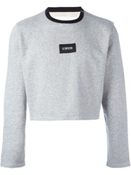 Our Legacy 'Super Cropped' Sweatshirt Grey
