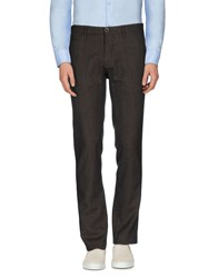Siviglia White Trousers Casual Trousers Men Dark Brown