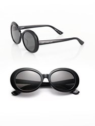 Saint Laurent Sl 98 California 53Mm Oversized Oval Sunglasses Black