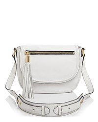Milly Astor Saddle Shoulder Bag White