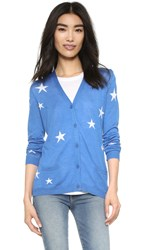 Chinti And Parker Cash Star Cardigan Denim Blue Cream