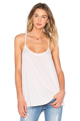 David Lerner Hi Low Drapey Tank Blush