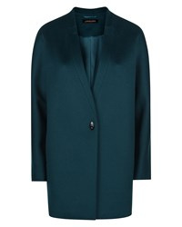 Jaeger Wool Turn Back Lapel Coat Green
