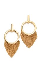 Ettika Closed Curves Earrings Gold