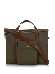 Mismo M S Soft Work Leather And Canvas Tote