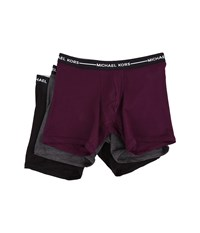 Michael Kors Ultimate Cotton Stretch Boxer Brief 3 Pack Concord Men's Underwear Burgundy