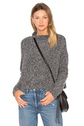 Bobi Rib Long Sleeve Turtleneck Sweater Black
