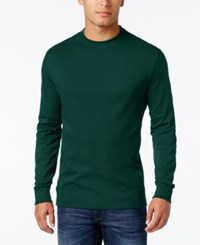 John Ashford Men's Big And Tall Interlock Crew Neck T Shirt Only At Macy's Dark Forest