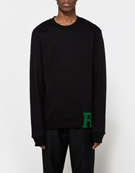 Raf Simons Washed Sweater With R Patch Black