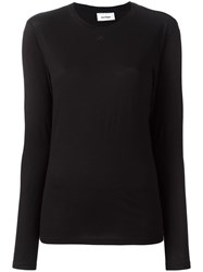 Courreges Longsleeved T Shirt Black