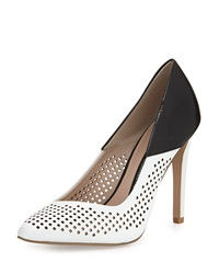 French Connection Maya 2 Perforated Pump Black Whit
