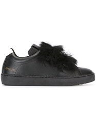 Leather Crown Donna Cervo X Lapin 'Royal' Sneakers Black