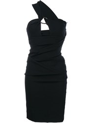 Preen By Thornton Bregazzi One Shoulder Midi Dress Black