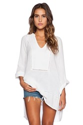 Michael Stars Rolled Sleeve Tunic White