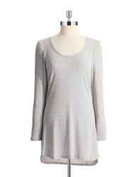 Splendid Heathered Hi Lo Sleep Shirt Heather Grey