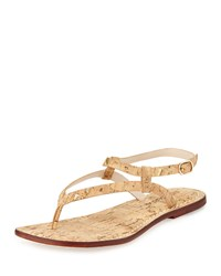 Bernardo Merit Metallic Cork Brown Thong Sandal