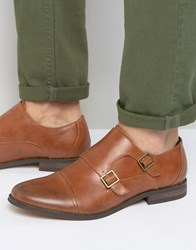 New Look Monk Strap Shoes In Tan Tan