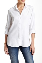 Trovata Button Down Hi Lo Tunic White