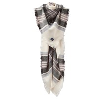 Joules Heyford Check Square Scarf Grey Mix