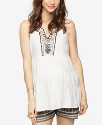 A Pea In The Pod Maternity Button Front Blouse White